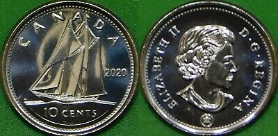 2020 Canada Dime Graded as Brilliant Uncirculated From Original Roll