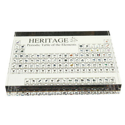Periodic Table Of Elements Acrylic Display For Home Teaching Decor Gift kids Toy