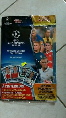 Uefa Champions League 2016-2017 ~ Topps Sticker Collection Album + 48 Stickers