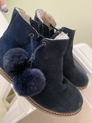 Immaculate Boden Girls Navy Chelsea boots Size 29