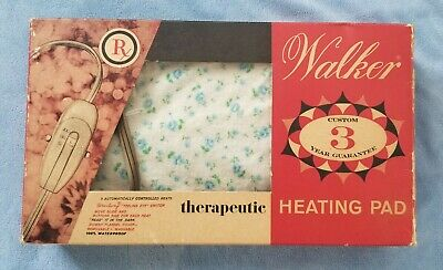 Vintage Walker Therapeutic Heating Pad Tested & Works Full Size 1950'S