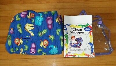 Babe Ease Blue Shopping Cart Cover High Chair Cover Zoo Animals Baby