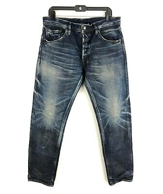 Fabric Brand & Co Denim AKSEL Slim Fit SELVEDGE Jeans Made In Japan Size 34 NEW