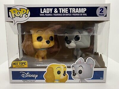 Funko Pop Disney LADY AND THE TRAMP Hot Topic Exclusive Vinyl Figure 2 Pack Set