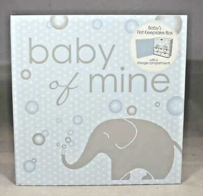 Lady Jayne Ltd Baby of Mine ~ Baby's First Keepsake Box (Blue) 6 Compartments