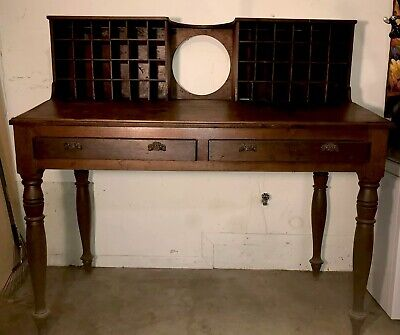 Antique Mail Sorter Post Office Desk