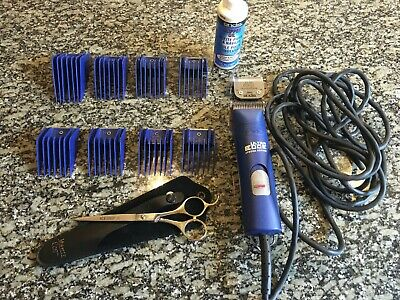 Andis 22405 Ultra Edge Special Edition Clipper - Blue with comb set and scissors