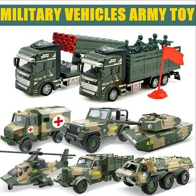 1:52 / 1:48 Military Toy Metal Model Car Diecast Truck Vehicles Helicopter Child