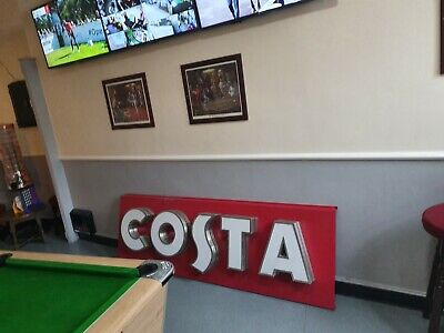 Costa large commercial coffee sign to pick up Sheffield S9 large.