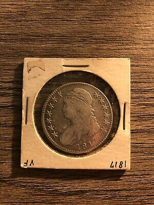 1817 50 Cent Capped Bust Silver Half Dollar