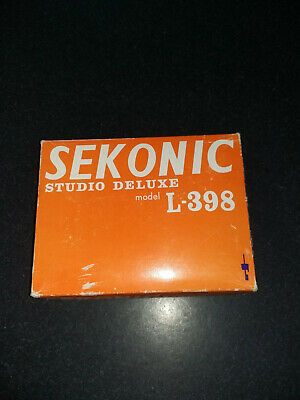 Sekonic Studio Deluxe L-398 Light Meter With Case and Attachments