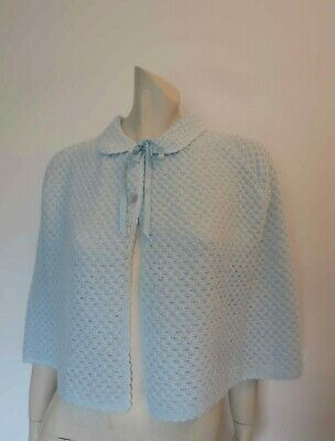 Short Baby Blue Cape by Gale - 1970s