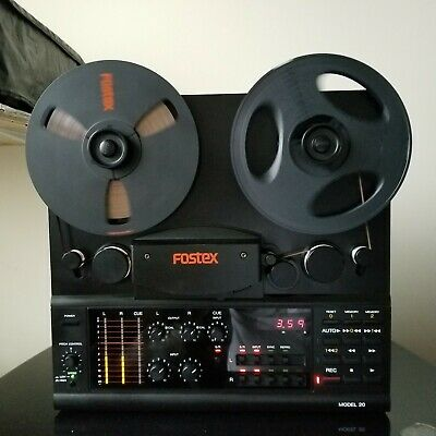 Fostex Model 20 Reel To Reel Tape Recorder/With Metal Reel/Manual.