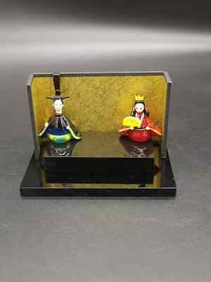Japanese Hina Doll Ornament Pottery Grass Girl is Festival Signed