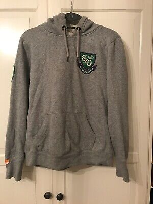 Superdry Ladies Limited Edition Grey Hoodie, Size Large, VGC, Fit 14
