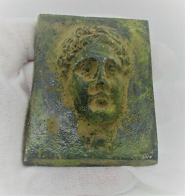 European Finds Ancient Roman Bronze Plaque With Depiction Of Diana Rare
