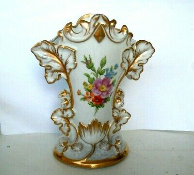 very RARE Antique Imperial Russian Porcelain Vase A. Popov, Moscow c. 1850