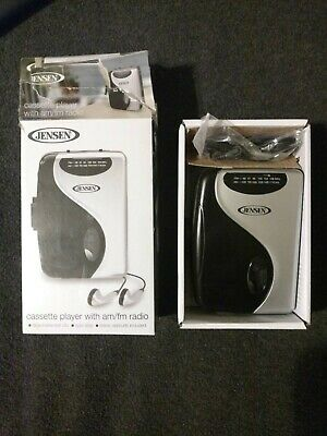 Stereo Cassette Player w// AM//FM Portable Radio Walkman Earbuds Tape Music New