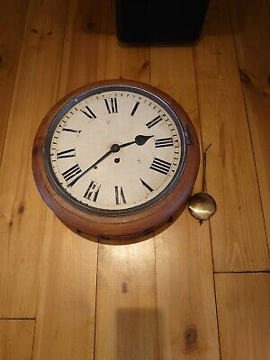 Antique English Chain Fusee Wall Clock Stokmar London