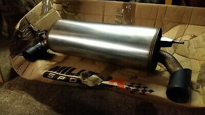 Cooper Backbox with Bodyband /& Rubbers chrome tip silencer exhaust MINI One