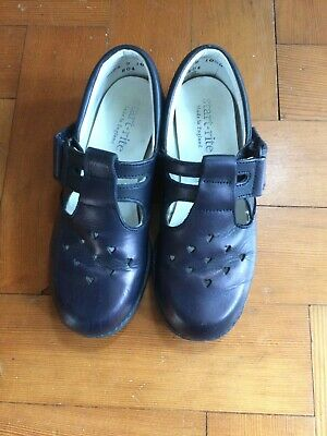 Start- rite Girls' school shoes – navy- leather uppers – Size 10 ½ D – used