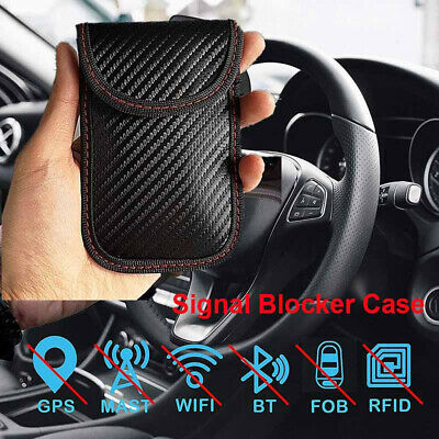Signal Blocking Bag Cover Signal Blocker Cases Faraday Pouch For Keyless Car Key