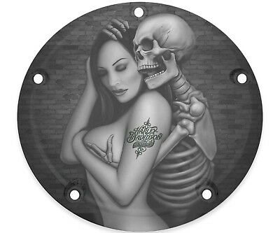 Harley Davidson Narrow Profile Derby Cover 2016-2020 Touring Skull And Woman