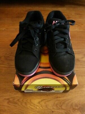 Girls Heelys in black and pink, size 2