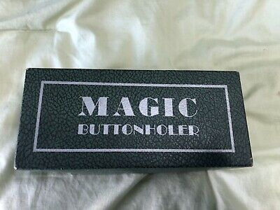 Vintage Greist Magic Buttonholer Original Box With 5 Templates Made In USA