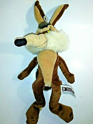 """WARNER BROTHERS STUDIO LOONEY TUNES BABY WILE E COYOTE 7/"""" PLUSH BEAN BAG TOY"""