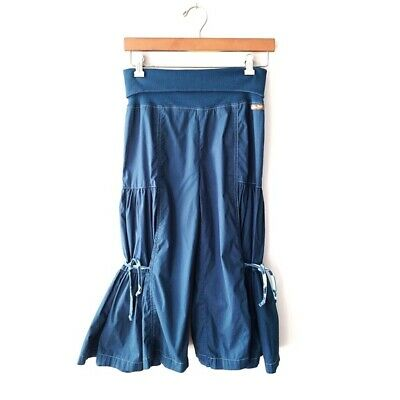 Matilda Jane | Blue Wide Leg Cropped Pants Big Ruffles Womens Small