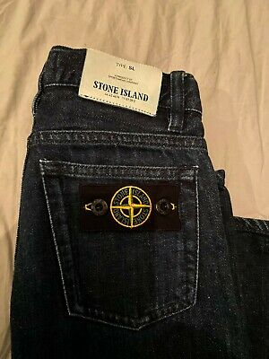 "Boys Stone Island Genuine Junior SL Jeans.Mens.AGE 6""W 22""Leg 21 .Kid. £95"