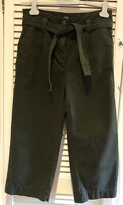 Next Cropped Wide Leg Trousers Paper bag  Size 8 BNWT