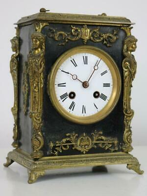ANTIQUE EBONY & ORMOLU FRENCH BRACKET CARRIAGE CLOCK by JAPY FRERES working