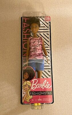 Barbie Fashionistas #128 African American Doll with Short Curly Brunette Hair