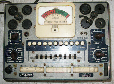 Vintage Jackson 715 Dynamic Tube Tester Tested  Working