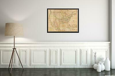 Historic Map - Map of the United States of America : with the contiguous British