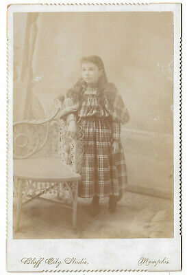 Southern Cabinet Card Photograph Bluff City - Memphis Tennessee Girl Wicker