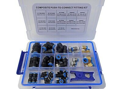 Push To Connect Composite Air Brake Line Fitting Kit