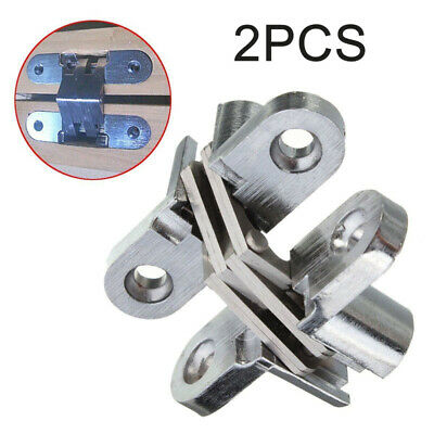 180 Degrees Soft Close Concealed Doors Cabinet Hinge Invisible Die Cast Silver