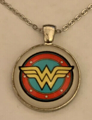 Wonder Woman  Cabochon Necklace NEW USA Shipped from California