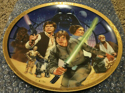 Vintage Star Wars 10th Anniversary Ceramic Plate- Large Size 1987