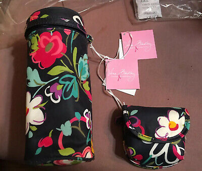 NWT Vera Bradley Bottle Caddy insulated carrier + pacifier pod in Ribbons NEW
