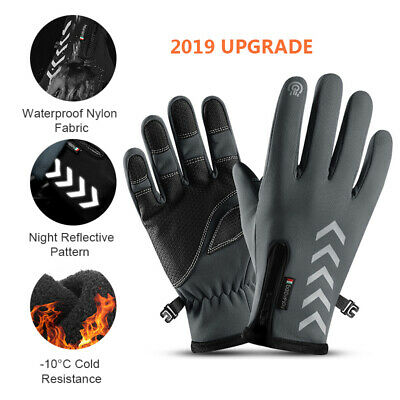 Winter Cycling Gloves Thermal Windproof Warm Fleece Gloves Touch screen Full