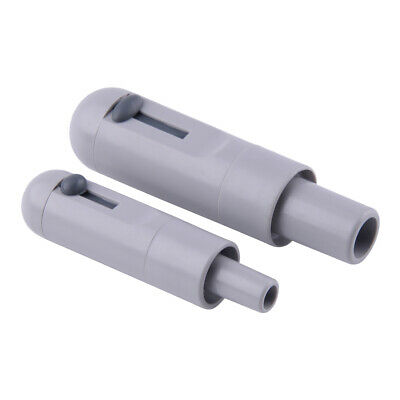 2Pcs HVE Grey Dental Suction Tube Convertor Saliva Ejector Adjustable Adapter
