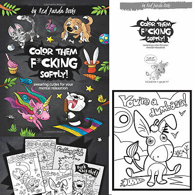Swear word Adult coloring book Cuties animal Hilarious images Mental relaxation