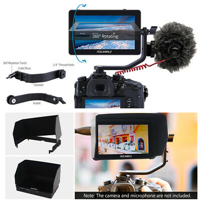 FEELWORLD F6 Plus 5.5 Inch Field Monitor Kit 4K HD for Canon/Sony DSLR Cam G7S5