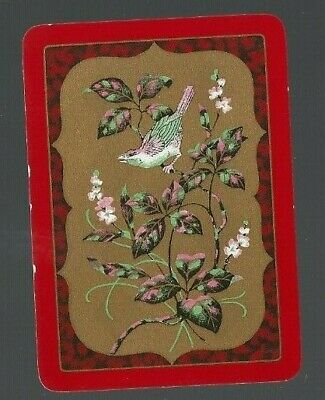 Playing Swap Cards 1 WIDE VINT  ENG BIRDS TWEETING ON TREE SEED PODS  EW34