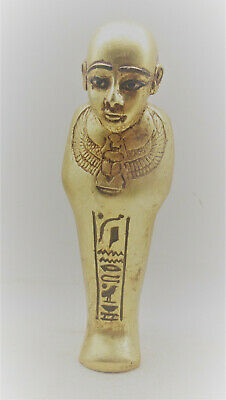 Scarce Circa 500Bce Ancient Egyptian Gold Gilded Ushabti In The Form Of Ptah
