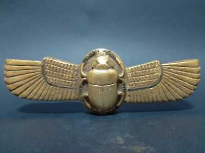 Rare ANCIENT EGYPTIAN ANTIQUES Winged Scarab Beetle Khepri Good Luck